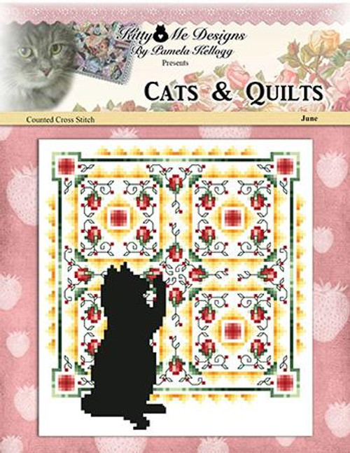 Cats and Quilts June Counted Cross Stitch Pattern