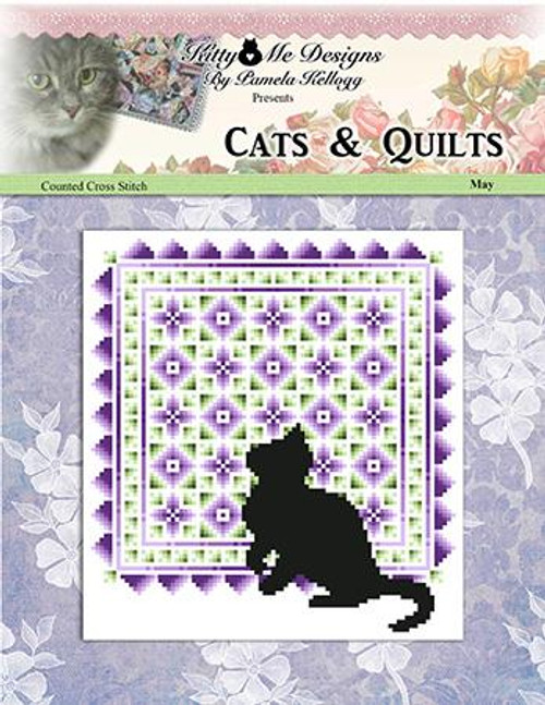 Cats and Quilts May Counted Cross Stitch Pattern