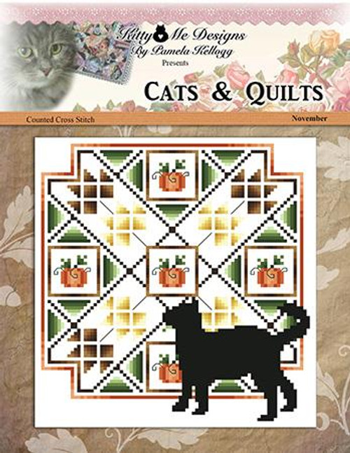 Cats and Quilts November Counted Cross Stitch Pattern