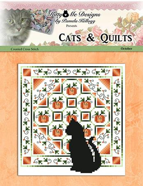 Cats and Quilts October Counted Cross Stitch Pattern
