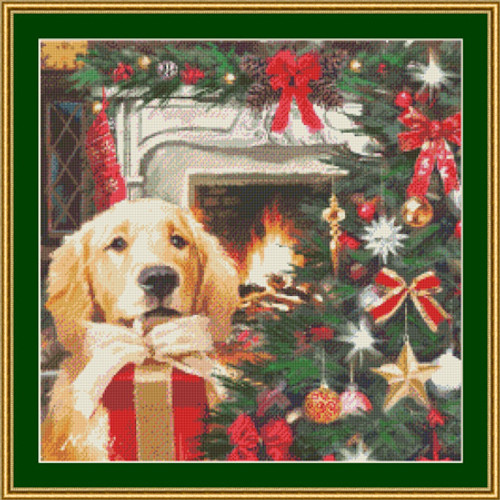The Red Gift Counted Cross Stitch Pattern