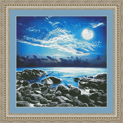 Moonlight Bay Counted Cross Stitch Pattern