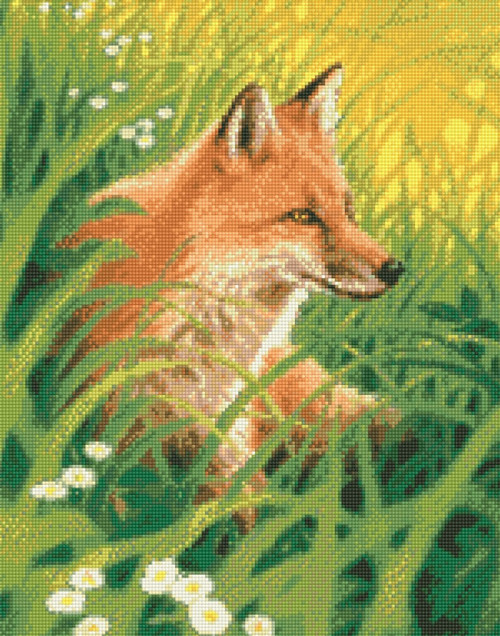 Summer Fox Counted Cross Stitch Pattern