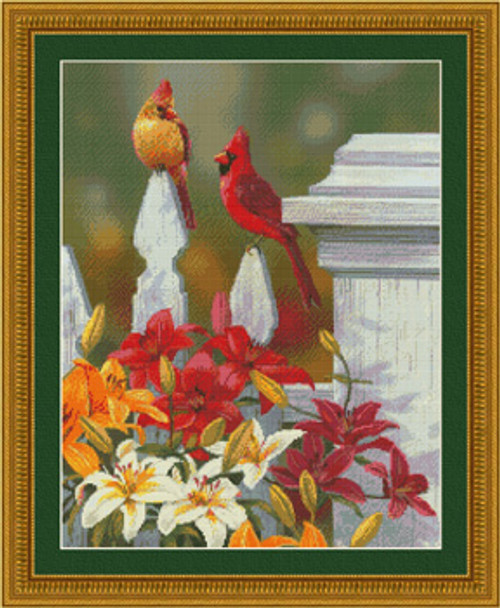 Perched Pretty Counted Cross Stitch Pattern