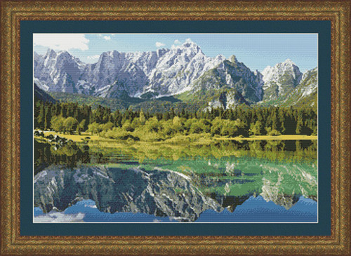Mount Mangart-Italy Counted Cross Stitch Pattern