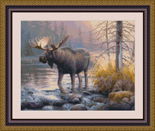 Power in the Mist Counted Cross Stitch Pattern