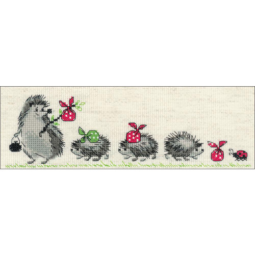 Hedgehogs - Riolis Counted Cross Stitch Kit