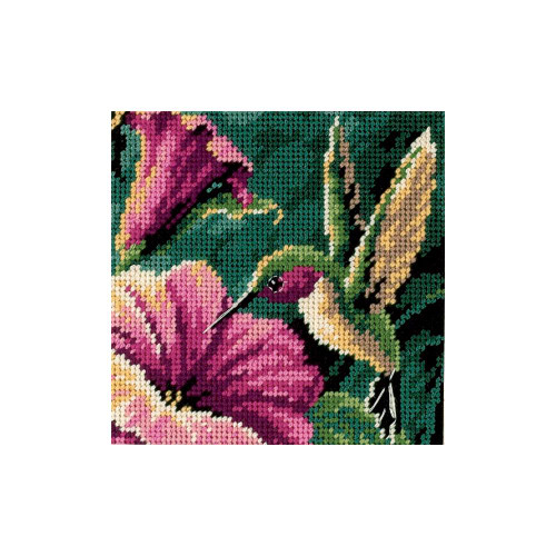 Hummingbird Drama - Dimensions Mini Needlepoint Kit