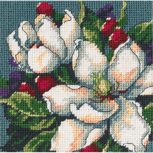Magnolias - Dimensions Mini Needlepoint Kit