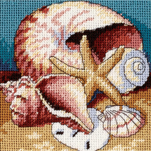 Shell Collage - Dimensions Mini Needlepoint Kit