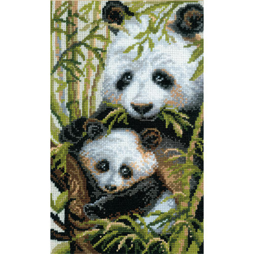 Panda With Young - Riolis Counted Cross Stitch Kit