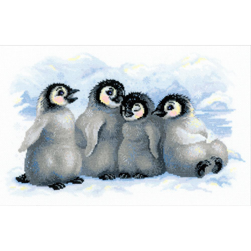 Funny Penguins - Rilolis Counted Cross Stitch Kit