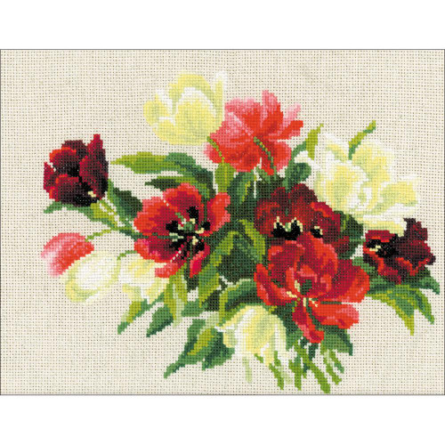 Tulips - Riolis Counted Cross Stitch Kit
