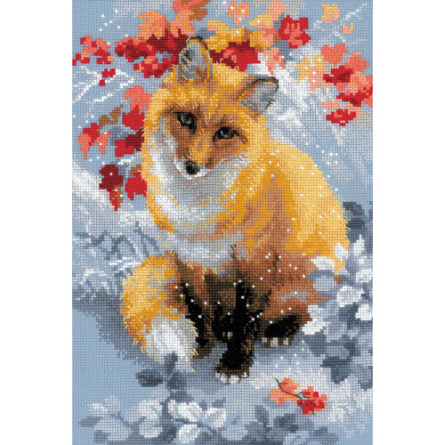 Fox - Riolis Counted Cross Stitch Kit