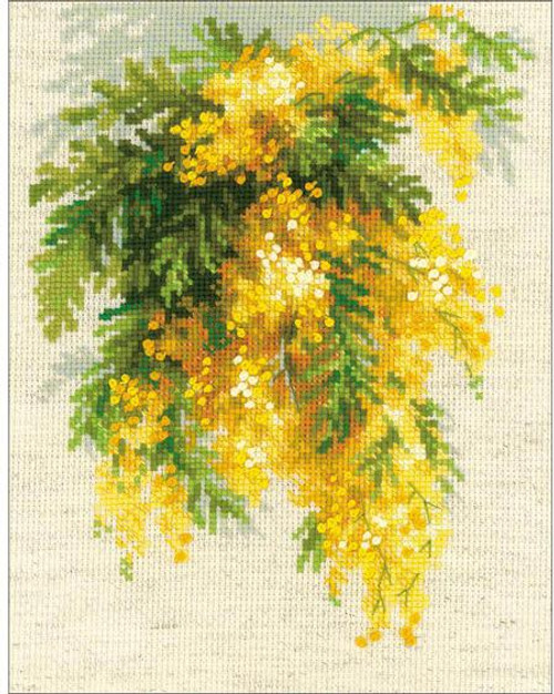 Mimosa - Riolis Counted Cross Stitch Kit