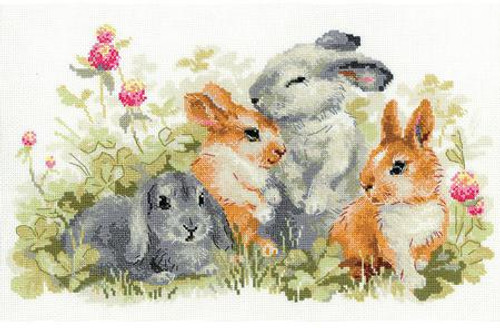 Funny Rabbits - Riolis Counted Cross Stitch Kit