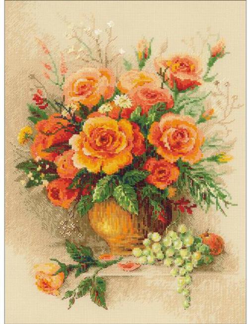 Tea Roses - Riolis Premium Counted Cross Stitch Kit
