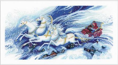 Magical Sleigh Ride - Riolis Premium Counted Cross Stitch Kit
