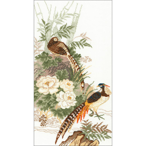 Pheasants - Riolis Counted Cross Stitch Kit