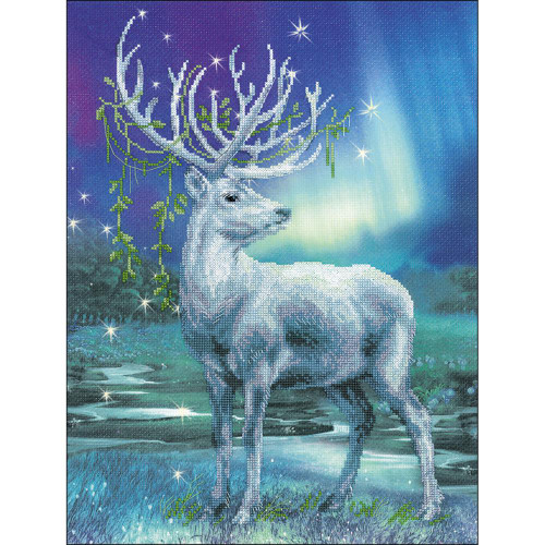 White Stag - Riolis Stamped Cross Stitch Kit