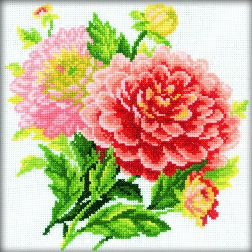 Dahlias - RTO Counted Cross Stitch Kit