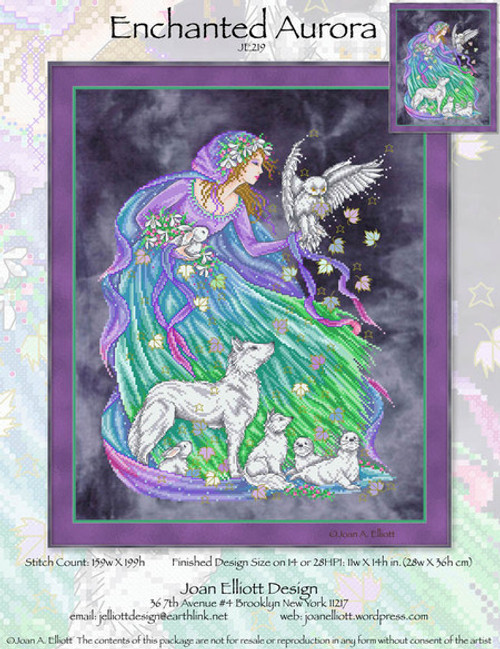Enchanted Aurora - Joan Elliott Design Counted Cross Stitch Pattern