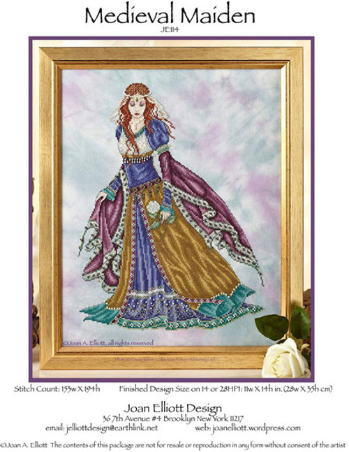 Medieval Maiden - Joan Elliott Design Counted Cross Stitch Pattern