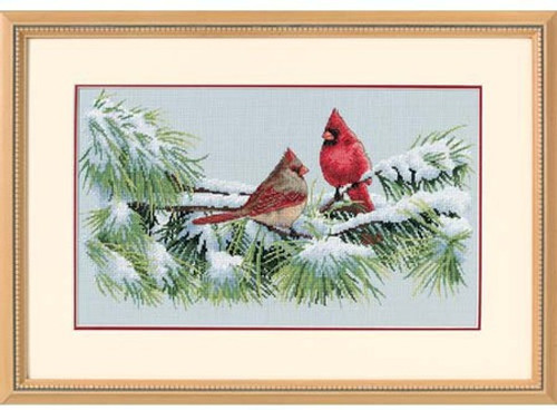 Winter Cardinals - Dimensions Counted Cross Stitch Kit