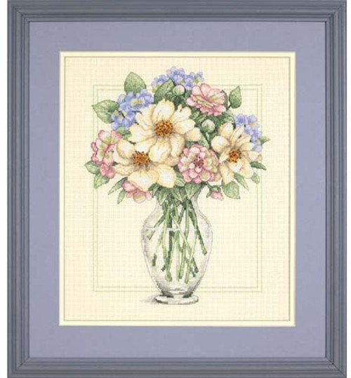 Flowers in a Tall Vase - Dimensions Counted Cross Stitch Kit