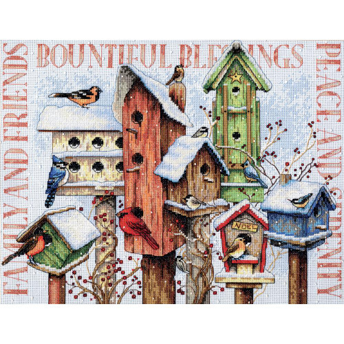 Winter Housing - Dimensions Counted Cross Stitch Kit