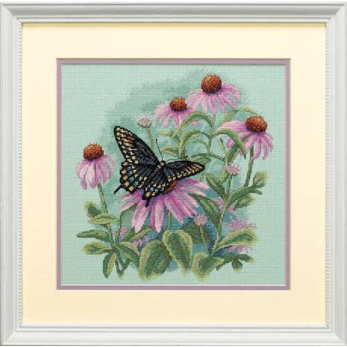 Butterfly & Daisies - Dimensions Counted Cross Stitch Kit
