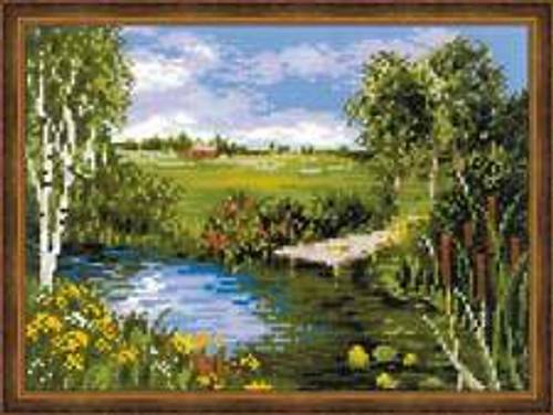 By the River - Riolis Counted Cross Stitch Kit