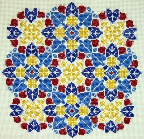 Kaleidescopes ~ K2 - Gracewood Stitches Counted Cross Stitch Pattern