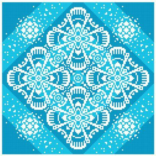Lace Traces ~ Burst of Blue - Gracewood Stitches Counted Cross Stitch Pattern