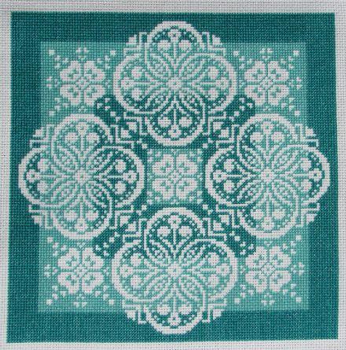 Lace Traces ~ Shades of Jade - Gracewood Stitches Counted Cross Stitch Pattern