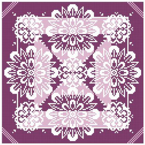 Lace Traces ~ Vividly Violet - Gracewood Stitches Counted Cross Stitch Pattern