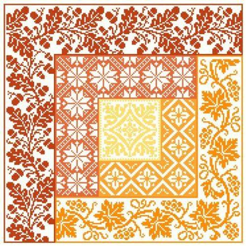 Log Cabin ~ Autumn - Gracewood Stitches Counted Cross Stitch Pattern