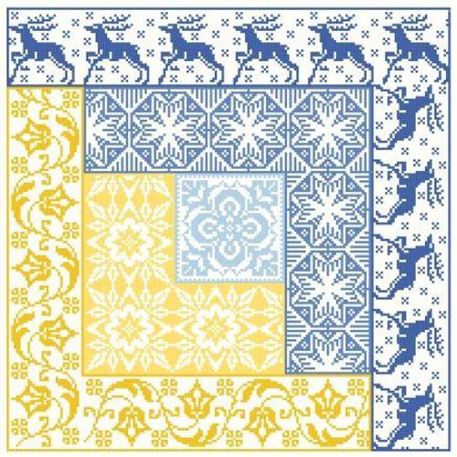 Log Cabin ~ Winter - Gracewood Stitches Counted Cross Stitch Pattern