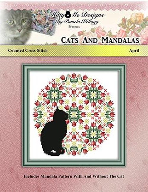 Cats and Mandalas April Counted Cross Stitch Pattern