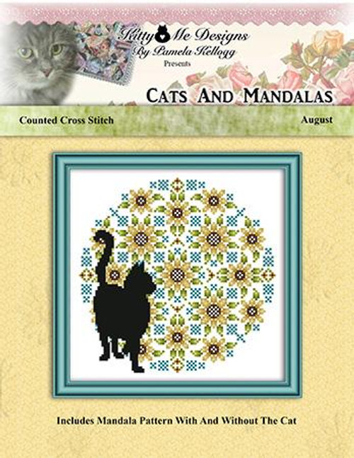 Cats and Mandalas August Counted Cross Stitch Pattern