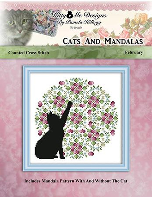 Cats and Mandalas February Counted Cross Stitch Pattern
