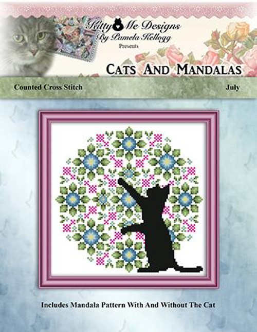 Cats and Mandalas July Counted Cross Stitch Pattern