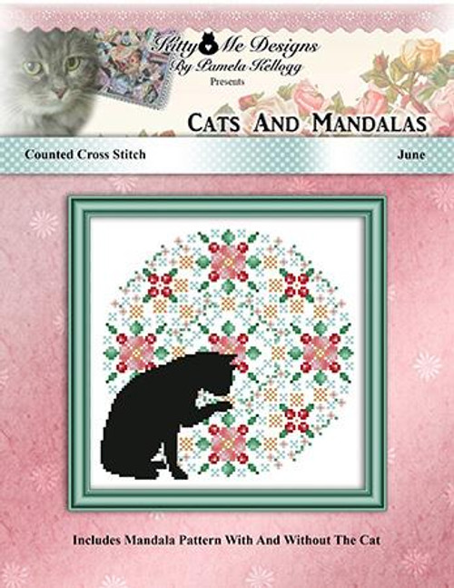 Cats and Mandalas June Counted Cross Stitch Pattern