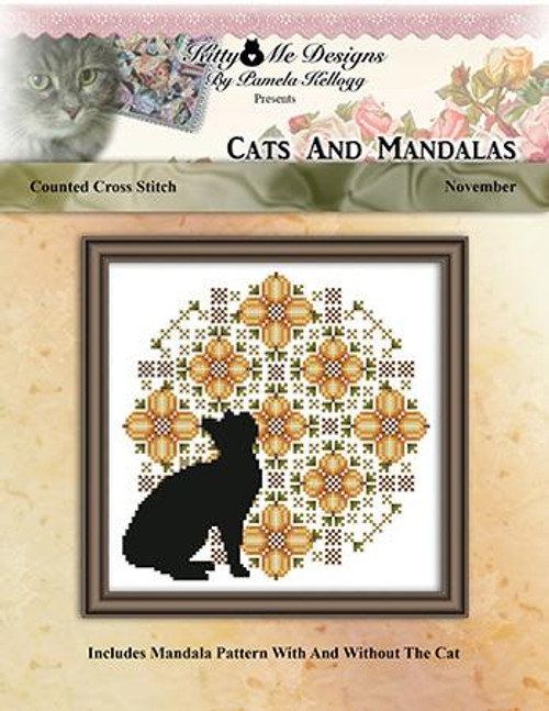Cats and Mandalas November Counted Cross Stitch Pattern