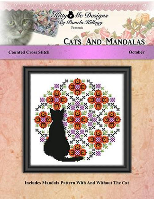 Cats and Mandalas October Counted Cross Stitch Pattern