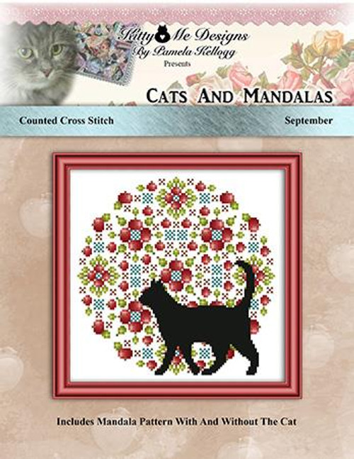 Cats and Mandalas September Counted Cross Stitch Pattern