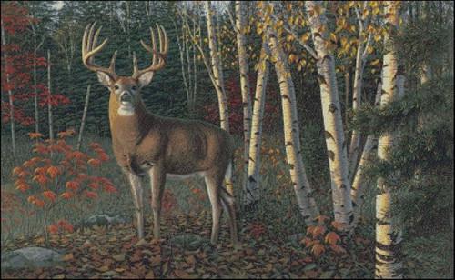 Autumn Sentinel Counted Cross Stitch Pattern