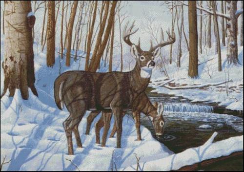 Winter Bliss Counted Cross Stitch Pattern