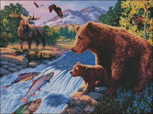 Americas Wildlife Counted Cross Stitch Pattern