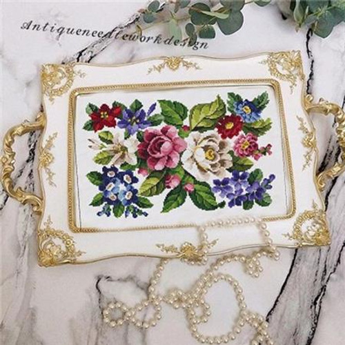 Victorian Floral Bouquet Counted Cross Stitch Pattern
